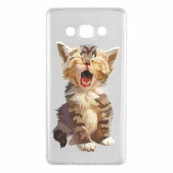 Чохол для Samsung A7 2015 Cute kitten vector