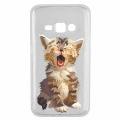 Чохол для Samsung J1 2016 Cute kitten vector