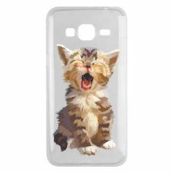 Чохол для Samsung J3 2016 Cute kitten vector
