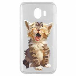 Чохол для Samsung J4 Cute kitten vector
