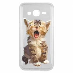 Чохол для Samsung J5 2015 Cute kitten vector