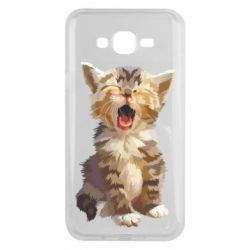 Чохол для Samsung J7 2015 Cute kitten vector