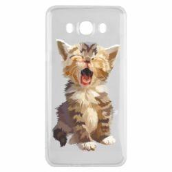 Чохол для Samsung J7 2016 Cute kitten vector