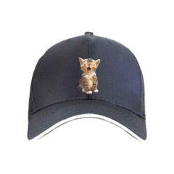 Кепка Cute kitten vector