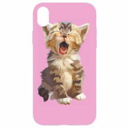 Чохол для iPhone XR Cute kitten vector