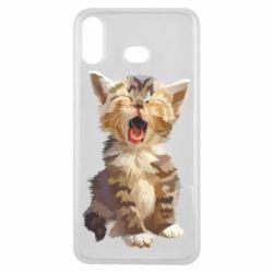 Чохол для Samsung A6s Cute kitten vector