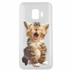 Чохол для Samsung J2 Core Cute kitten vector