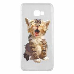 Чохол для Samsung J4 Plus 2018 Cute kitten vector