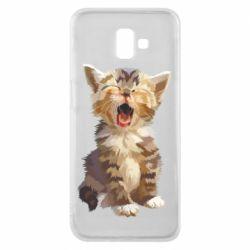 Чохол для Samsung J6 Plus 2018 Cute kitten vector
