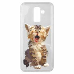 Чохол для Samsung J8 2018 Cute kitten vector