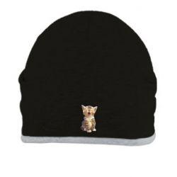 Шапка Cute kitten vector