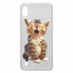 Чохол для Samsung A10 Cute kitten vector