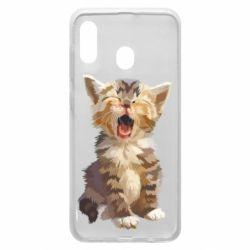 Чохол для Samsung A20 Cute kitten vector