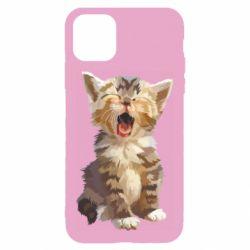 Чохол для iPhone 11 Cute kitten vector