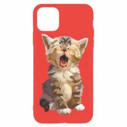 Чохол для iPhone 11 Pro Max Cute kitten vector
