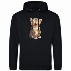Чоловіча толстовка Cute kitten vector