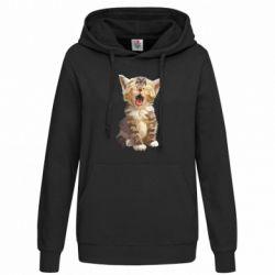 Толстовка жіноча Cute kitten vector