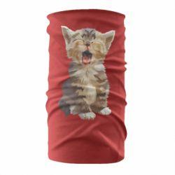 Бандана-труба Cute kitten vector