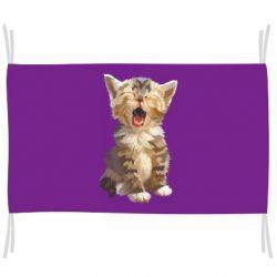 Прапор Cute kitten vector