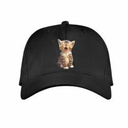 Дитяча кепка Cute kitten vector
