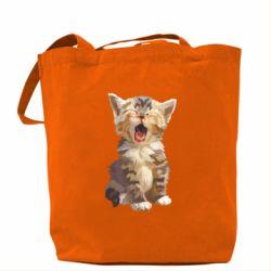 Сумка Cute kitten vector