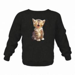 Дитячий реглан (світшот) Cute kitten vector