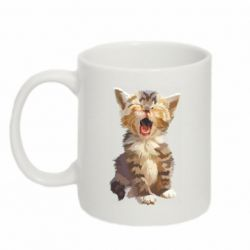 Кружка 320ml Cute kitten vector
