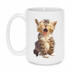 Кружка 420ml Cute kitten vector