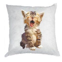 Подушка Cute kitten vector