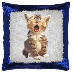 Подушка-хамелеон Cute kitten vector