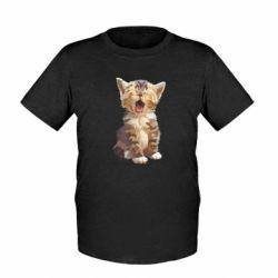 Дитяча футболка Cute kitten vector