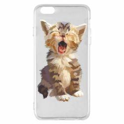 Чохол для iPhone 6 Plus/6S Plus Cute kitten vector