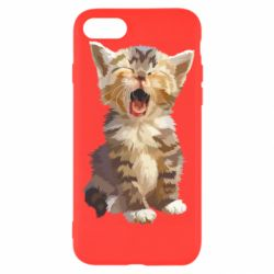 Чохол для iPhone 7 Cute kitten vector