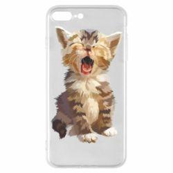 Чохол для iPhone 7 Plus Cute kitten vector