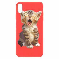 Чохол для iPhone X/Xs Cute kitten vector