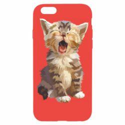 Чохол для iPhone 6 Cute kitten vector