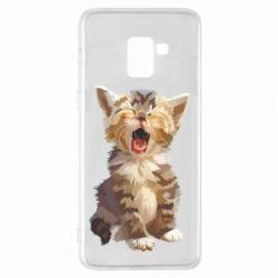 Чохол для Samsung A8+ 2018 Cute kitten vector