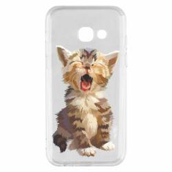 Чохол для Samsung A3 2017 Cute kitten vector