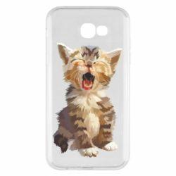 Чохол для Samsung A7 2017 Cute kitten vector