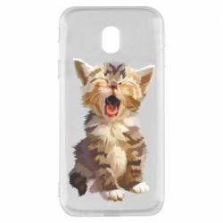 Чохол для Samsung J3 2017 Cute kitten vector