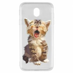 Чохол для Samsung J7 2017 Cute kitten vector