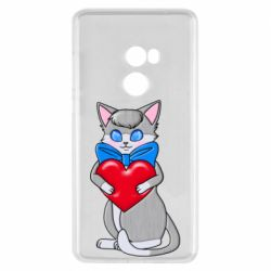 Чехол для Xiaomi Mi Mix 2 Cute kitten with a heart in its paws