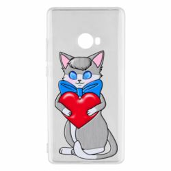 Чехол для Xiaomi Mi Note 2 Cute kitten with a heart in its paws