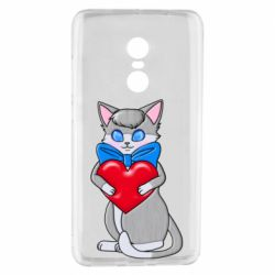 Чехол для Xiaomi Redmi Note 4 Cute kitten with a heart in its paws