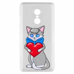 Чехол для Xiaomi Redmi Note 4x Cute kitten with a heart in its paws
