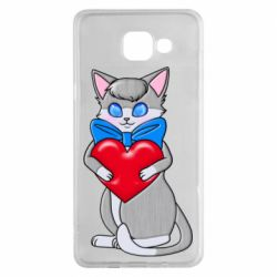 Чохол для Samsung A5 2016 Cute kitten with a heart in its paws