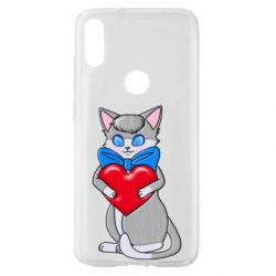 Чехол для Xiaomi Mi Play Cute kitten with a heart in its paws