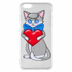 Чохол для iPhone 6 Plus/6S Plus Cute kitten with a heart in its paws