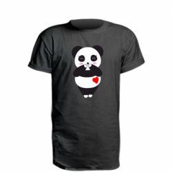 Подовжена футболка Cute panda