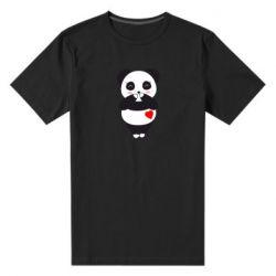 Чоловіча стрейчева футболка Cute panda